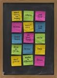 motivational påminnelser för blackboard Royaltyfri Bild