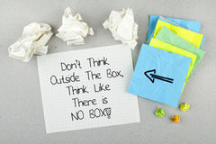 Motivational Phrase Unique Different Thinking Concept Stock Photography