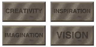 Motivational Plaques Stock Photography