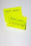 Motivational post-it Stock Image