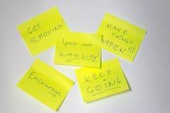 Motivational post-it Stock Photo