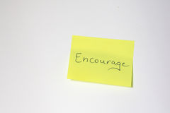 Motivational post-it Royalty Free Stock Image