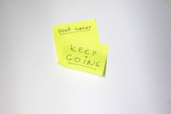 Motivational post-it Royalty Free Stock Photography