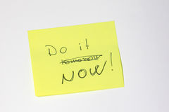 Motivational post-it Royalty Free Stock Images