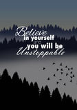 Motivational poster Royalty Free Stock Photo