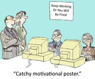 Motivational poster stock illustration