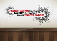 Motivational poster Stock Image