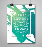 Motivational Poster Square Frame with Paint Splash Royalty Free Stock Photography