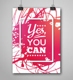 Motivational Poster Square Frame with Paint Splash Stock Photography