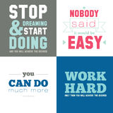 Motivational posters on the sport, healthy Stock Photos