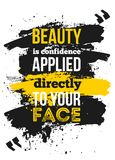 Motivational quote about confidance for your businss. Creative poster for wall. Selfesteem concept.  Stock Photography