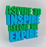 Motivational quote 3d rendering royalty free stock photography