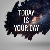 Motivational quote at deep space background Stock Photo