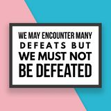 Motivational Quotes and Inspirational Quotes For Daily Life royalty free illustration