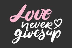 Motivational quotes about love. Hand lettering and custom typography for you Royalty Free Stock Photo