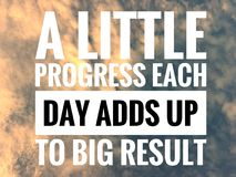 Free Motivational Quotes On Nature Background A Little Progress Each Day Adds Up To Big Result Stock Photo - 105667190