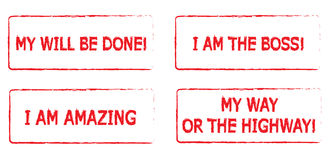 Motivational rubber stamps Stock Photography