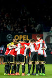 Motivational Scrum of Feyenoord players Royalty Free Stock Photo