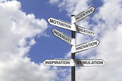 Motivational Signpost Stock Image