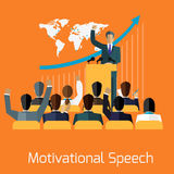Motivational speech concept design Royalty Free Stock Photography