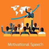 Motivational speech concept design Royalty Free Stock Photography