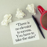 Motivational Success Quote Stock Photo