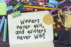 Motivational Success Quote About Winning Stock Images