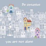 Motivational tecknad filmkort Arkivbilder