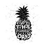 Motivational travel poster with pineapple Royalty Free Stock Photo