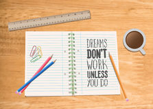 Motivational vector with dream text Stock Images