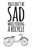 Motivationcitationstecken Dragen tappningvektor för cykel hand Royaltyfri Bild