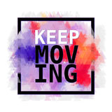 Motivationen inks affischen Textbokstäver av en inspirerande ordstäv Uppsättning för beståndsdel för Grungemålarfärgvektor Borste royaltyfri illustrationer