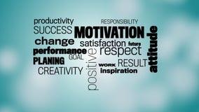 Motivationordmoln stock video