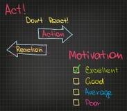 Motivations-Aktion Lizenzfreie Stockbilder