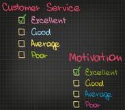 Motivations-Kundendienst Stockbilder