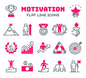 Motivations outline icons vector set. Vector set motivations outline icons related to business management, strategy, career progress and business process. Mono Royalty Free Stock Image