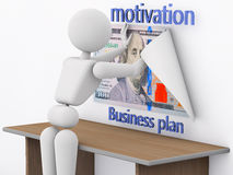 Motivator for business plan Royalty Free Stock Image