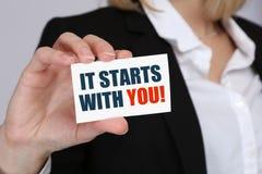 Motivazione che inizia inizio preparando il successf di successo di addestramento immagine stock libera da diritti