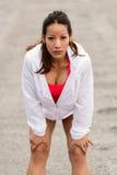 Motivazione della donna di forma fisica Fotografie Stock Libere da Diritti