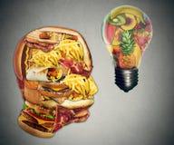 Motivazione di dieta e concetto stante a dieta di ispirazione Fotografia Stock