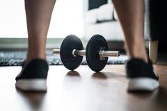 Motivazione di forma fisica, determinazione e concetto di sfida immagini stock
