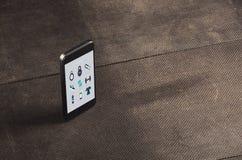 Motivazione di forma fisica telefono Allenamento per il migliori corpo e salute Fotografie Stock