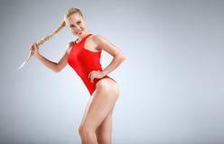 Motivazione perfetta di forma fisica Fotografia Stock