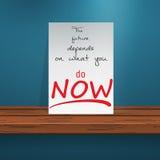 Motivazione su desk2 royalty illustrazione gratis