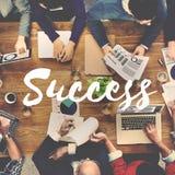 Motivazione Victory Goal Growth Concept di missione di successo fotografia stock libera da diritti