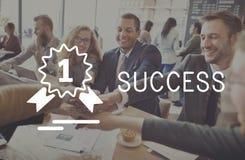 Motivazione Victory Goal Growth Concept di missione di successo immagine stock