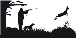 Motive hunting of animals and landscapes12 royalty free illustration