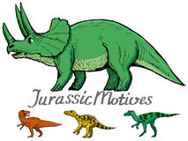 Motive of jurassic era Stock Image