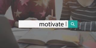 Motive la meta de la aspiración que el incentivo esperanzado inspira concepto fotos de archivo