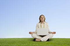 Motiverende meditatie Stock Fotografie